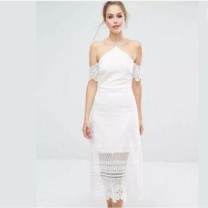 Dresses & Skirts - Dark Pink Premium Lace Midi Dress | Size US 4